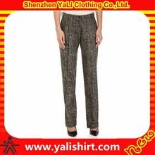 Venta al por mayor caliente popular línea normal / algodón plisado slouch formal mujeres pantalones de vestir