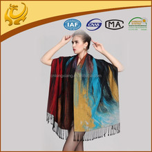 Wholesale New Style Oil Painting Pashmina Scarf Wrap 100% Silk Shawls
