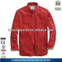 2014 New Design Corduroy Casual Mens Shirt 100% Factory price