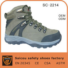 China high quality breathable steel toe hiking shoes and climbing shoes factory SC-2214A
