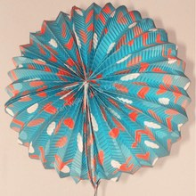 Accordion shape chinese rice paper balloon
