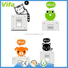 Removable Funny Cute Cat Switch Wall Window Sticker Vinyl Art Decal Home Decor