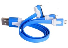Hot 2015 3in1 usb cable USB Charging Cable colored 3 in 1 usb cable
