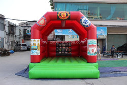 Commercial grade bouncy castle inflatable with custom logo printing with sunshine cover