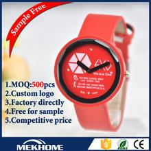 ladybug red sky genuine leather quartz watches