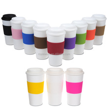 Promotion cheap eco friendly plastic 16oz double wall PP coffee mugs