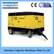 AtlasCopco XAS67 portable diesel engine screw air compressor 3.72 M3/min flow capacity at 7bar pressure DEUTZ F2M2011