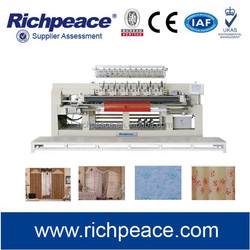 Computerized quilting and embroidery machine for curtain and various of Single-layer Fabic