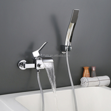 New styles single lever wall mounted waterfall shower tap mixer