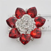 Fashion 2015 new style brooch hijab pins alibaba wholesale red flower brooch cheap vintage brooches in bulk
