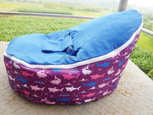 dolphin with dark blue seat baby bean bag