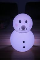 For decoration illuminated color change led plastic snowman