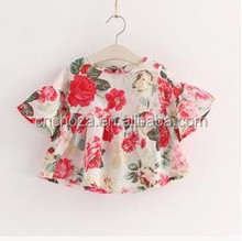 Z59429A Children Age Group garment and T-Shirts Product Type Wholesale Girls Floral Blouse