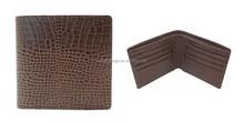 Crocodile skin leather men wallet with card holder