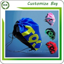 Hongway customize wholesale cheap promotion, waterproof polyester/ cotton drawstring shoe bag/ velvet fabric draw string pouch