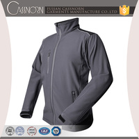 reverse zip waterproof wholesale softshell jacket with chest and side pocket
