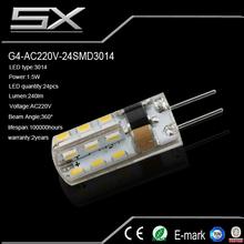 g4 smd 5630 12v 3.6w car led lamp/bulb with high power