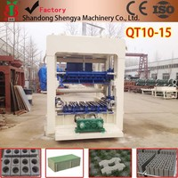QT10-15 automatic hydraulic concrete /paver block making machine factory in Guangzhou China hot sale in Oman and Egypt