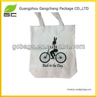 hot sell fancy excellent bicycle printed recycled custom canvas tote bag for young