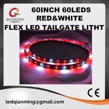"red white 60"" flexible LED tailgate light with brake/running/indicators/hazard/reserve function 5050SMD"
