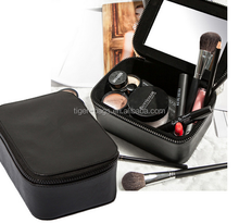 Professional cosmetics bag beautiful cosmetic bag with mirror