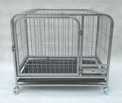 Foldable cheap dog cage/strong stainless steel dog cage