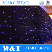 W&T Charming led star cloth curtains for stage backdrops 10X3m RGB Tri color