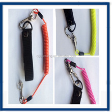 Spiral Coil Lanyard with Quick Release Zinc Alloy Swivel Hooks / Key Chain