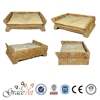 Round shape pet bed cate banana leaf cat bed