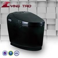 Plushiy design smart black color toilet high quality toilet