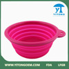 2015 Popular Wholesale Nontoxic purple Portable Folding Silicone Dog Bowl