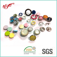 Manufacturer Custom Decorative Brass Metal Ring Cap Pearl Popper Press Studs Prong Snap Fasteners Buttons for Baby Garments