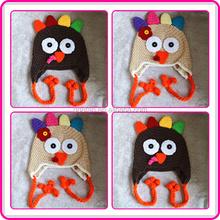 thanksgiving day crochet turkey hats handmade crochet animal hats kids knit winter hats