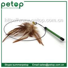 gato de juguete de plumas de colgador de acero pluma juguetes del gato