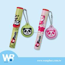Cute panda mini ball pen with screen wiper dangle