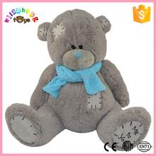 2016 popular sleeping soft white teddy bears in china