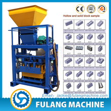 QTF40-1 China products small scale cost of fly ash brick making machine
