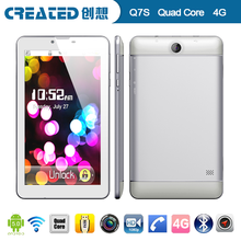 Newest created Q7S 7 inch dual sim mobile phone 4g wifi tablet gps