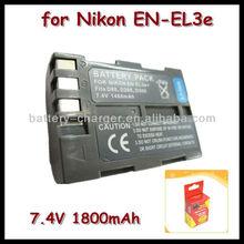 For Nikon 18490 cell camera travel portable battery EN-EL3e for D100 D200 D70S
