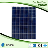 home and industry use 200W Poly solar panel