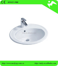 popular table top bathroom basin under counter basin large size sinks