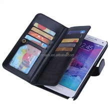 for Samsung Note 4 case 2015 new luxury leather case for samsung flip case with card holders