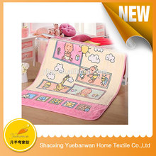 Famouse Brand Printing knitted baby blanket