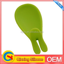 custom fashion silicone color measureing spoon with rabbit ear shape