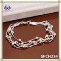 Cordón pulsera hechos a mano cadena en capas pulsera caliente de la venta