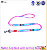 Factory personalized nylon dog lead with sewing tape
