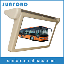 LCD screen bus flip down display monitor with led-backlight