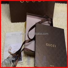 Concave Luxury Custom Printed Black Clothing Packaging Box Wholesale