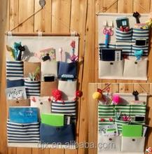 Multi pockets waterproof foldable hanging bathroom organizer