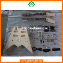 GK069 Good qulaiy double neck diy electric guitar kit